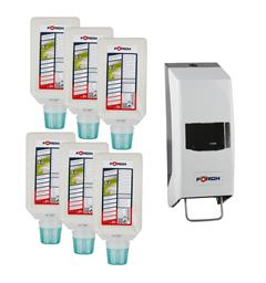 Håndrens Derma Top 6 x 2 L + dispenser